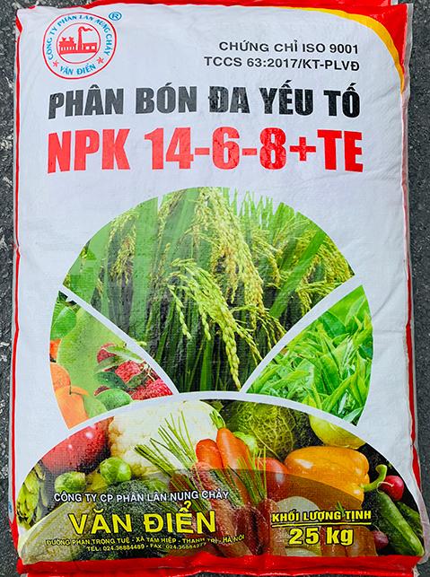 PHÂN ĐA YẾU TỐ NPK 14.6.8 chuyên bón thúc cho nhiều loại cây (DẠNG VIÊN)