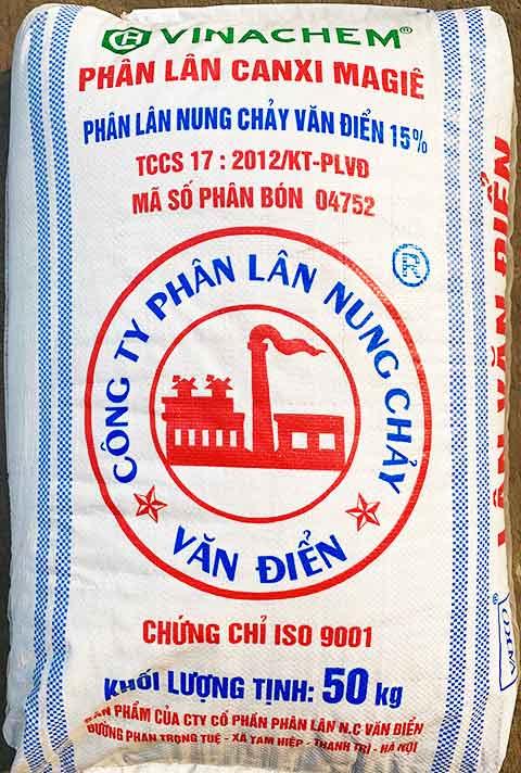 Phân Lân nung chảy dạng bột mịn ( 15%-19% )
